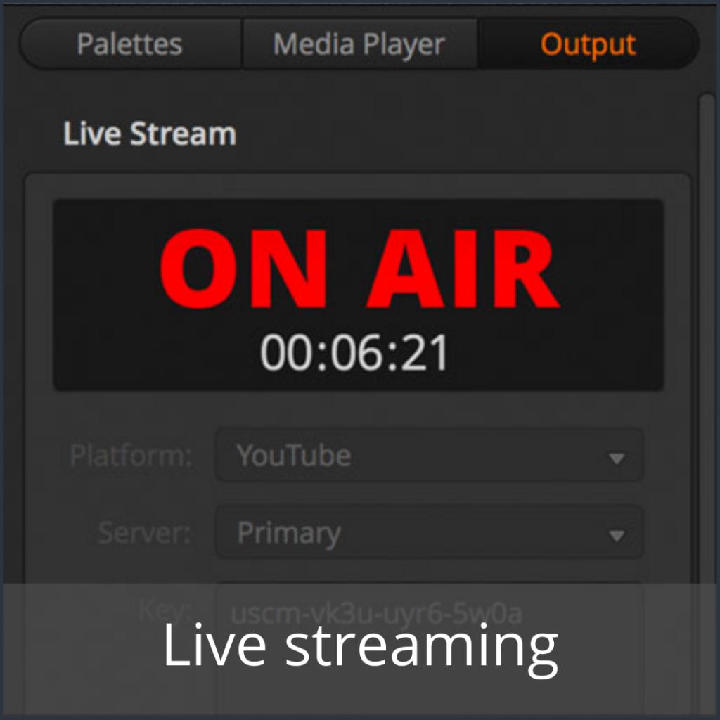 Videoconferencing live streaming - Media Service